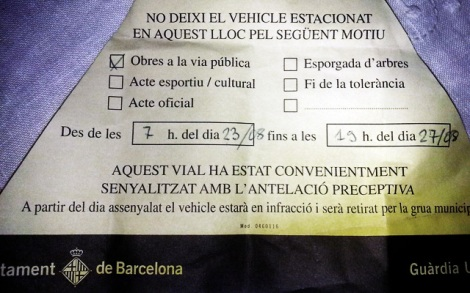 Avís municipal (Ajuntament de Barcelona)