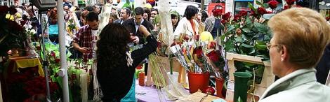 Sant Jordi a la Rambla de Barcelona