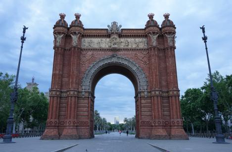 Arc de Triomf, Barcelona, durant la pandèmia de COVID-19